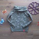 Теплый свитшот-свитер в бабочки