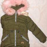 Курточки зимние на девочек 8, 10, 12 лет, Венгрия