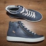 Кожаные ботинки сникерсы ecco soft 7 zip boot 23,5 см