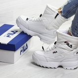 Зимние женские ботинки Fila white