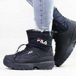 Зимние женские ботинки Fila dark blue