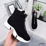 Женские зимние ботинки, сникерсы