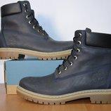 Зимние мужские ботинки Timberland из натуральной кожи.