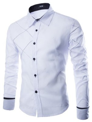 Рубашка мужская код 71 белая