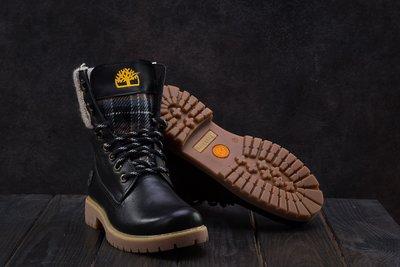 Зимние женские ботинки кожа black
