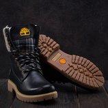 Зимние женские ботинки Timberland black