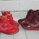 Демисезонные кожаные ботинки. Размеры 20-24