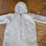 Зимний меховой мешок-шубка для новорожденного.
