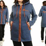 Женский теплый трикотажный костюм с начесом , зимний, 50-56