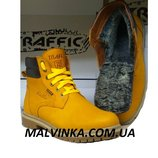 Ботинки кожаные мужские на меху 40-45 р фабрика Traffic арт 211Ж