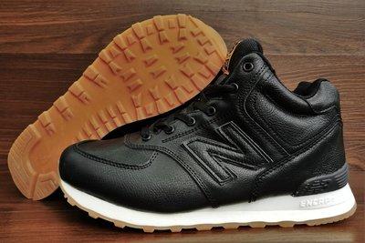 e5155e2c561a Мужские кожаные зимние кроссовки ботинки New Balance 574 топ качество. Мех  натуральный