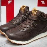 Мужские зимние ботинки кроссовки New Balance 574 brown