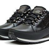 Мужские кожаные зимние ботинки кроссовки New Balance All Black 754