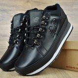 Полностью черные мужские зимние ботинки кроссовки New Balance