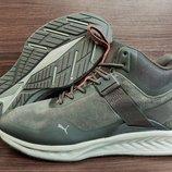 В цвете хаки мужские зимние ботинки кроссовки Puma. Бомба качество