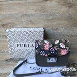 Женская кожаная сумка - клатч Furla Metropolis со съемным верхом