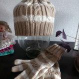 Набір шапка і рукавиці