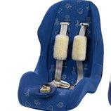 Натуральная овчина для ребенка на авто кресло