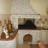 Мангал, барбекю, камин, печь, альпийская горка, забор из камня кладка камнем, печник Донецк Макеевка
