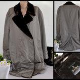 Брендовое мужское утепленное пальто тренч с поясом dress boraj швеция мех акрил синтепон