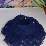 Классная юбка,пачка из фатина,12-18 мес. темно-синего цвета,сток