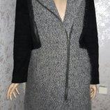 Пальто косуха шерстяное на молнии wristles размер 14
