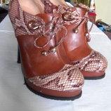 Женские демисезонные туфли-ботильоны.