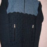 Толстая кофта карманы на замке рост 122-164