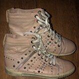 Шикарные кеды ботиночки деми р.39 25 см/сток.