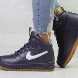 Зимние кроссовки Nike Air Force LF-1 purple