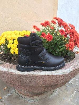 Теплые зимние ботинки р32на овчине с двумя липучками