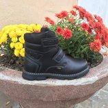 Теплые зимние ботинки р32,33,35 на овчине с двумя липучками