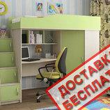 Кровать с письменным столом Школьник