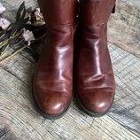 Кожаные коричневые деми ботинки от ECCO/Gore-tex/челси/мембрана-38р