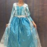 Карнавальный костюм, карнавальное платье принцессы Эльзы фрозен frozen