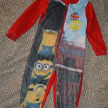 флисовая пижама George с миньонами на 2-3 года рост 92-98
