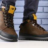 Мужские зимние ботинки из натуральной кожи, код ks-4176
