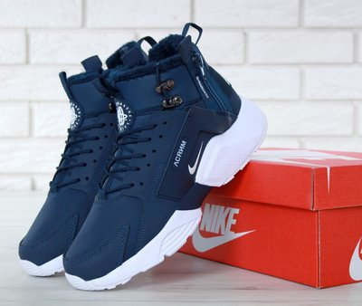 ade968e7 Мужские зимние кроссовки Nike Huarache X Acronym City Winter Blue ...