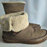 Сапожки,ботинки демисезонные Clarcs 38р. стелька -25см.
