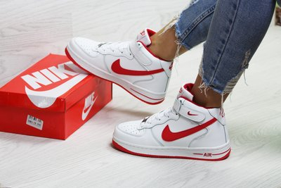 Зимние кроссовки Nike Air Force white/red