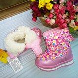 Дутики том м розовые с бантиком р-р 28-18,5 см