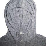 Мужская кофта длиннорукавка мягкая с капюшоном меланж 21 Men L