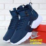 Зимние мужские кроссовки ботинки Nike Huarache X Acronym City Winter Blue