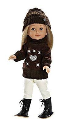 Кукла Калотта в коричневом свитере серия SWAROVSKI ARIAS 90204