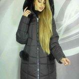 Теплое пальто зима Снежа, Размеры 50,52,54,56,58,60.