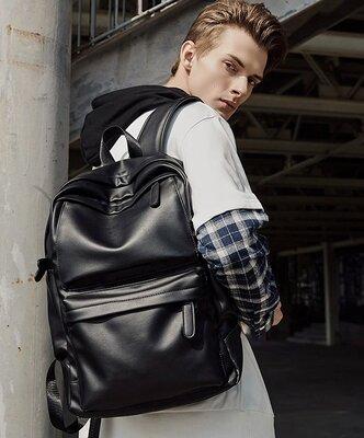 Крутой рюкзак с usb j3. Кожаная сумка. Мужской рюкзак. Портфель для ноутбука