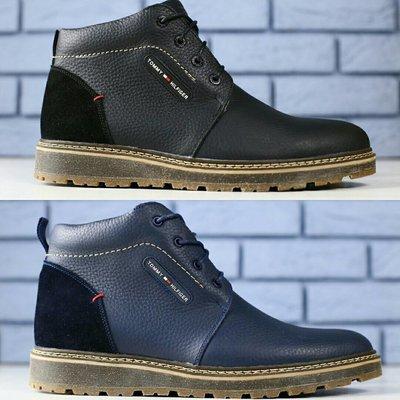 Мужские зимние ботинки Lev is из натуральной кожи на меху, код ks-4169