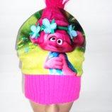 Демисезонная шапка Nutmeg на флисе 7-10 лет Тролль