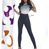 Плотные леггинсы - джинсы BAS BLEU Blair с моделирующим талию широким поясом