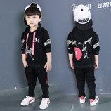 Стильный спортивный детский костюм для мальчика, тренд 2018. Принт Журавли.